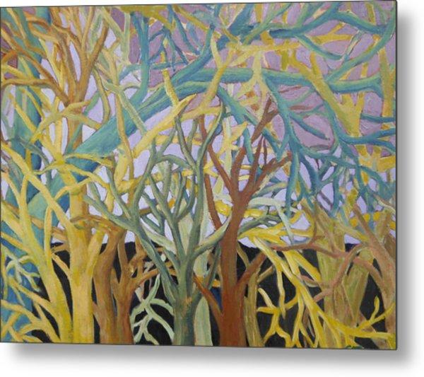 Fractal Trees Metal Print by Rosemary Cotnoir