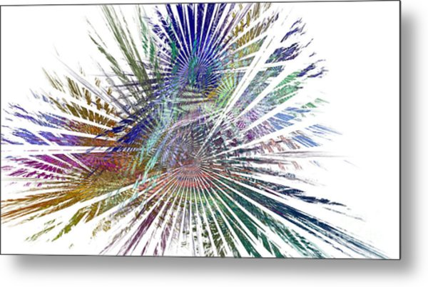 Fractura Colora On White Metal Print