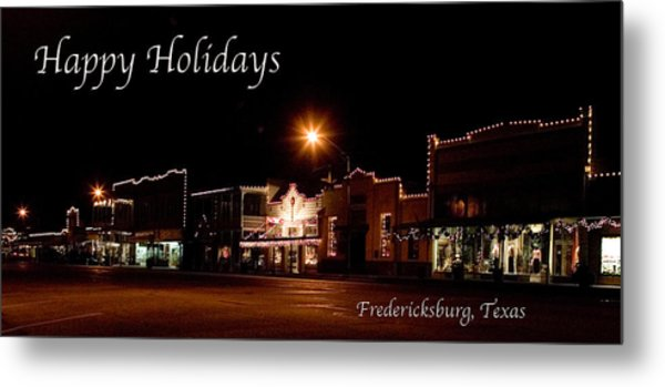 Fredericksburg Lights Metal Print