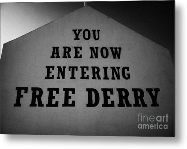 Free Derry Bogside Northern Ireland Metal Print