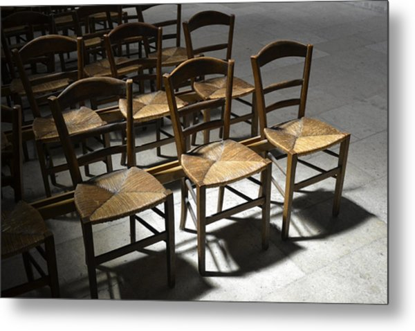 French Chairs Metal Print by Dickon Thompson