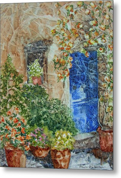 Metal Print featuring the painting French Doorway by Paula Robertson