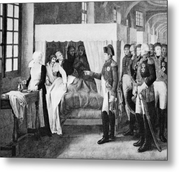 French Hospital, 19th Century Metal Print by