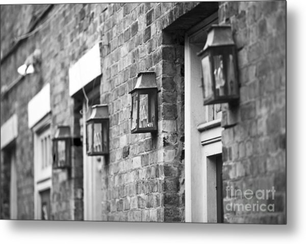 French Quarter Lamps Metal Print