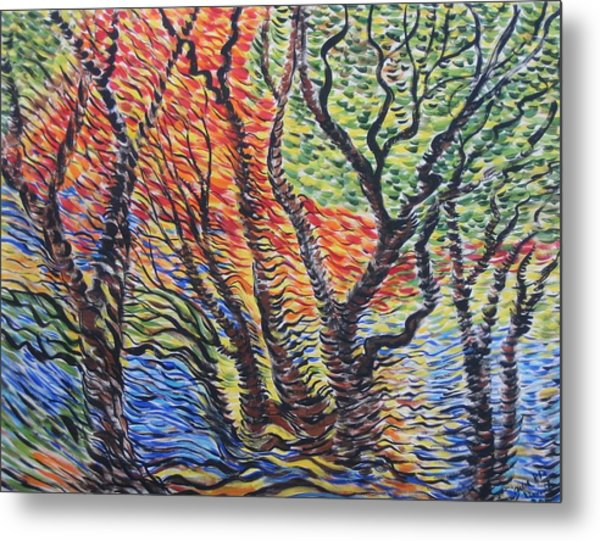 Frest Reflection Metal Print by Julia Rita Theriault