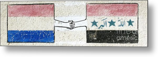 Friendship Flags Metal Print by Unknown