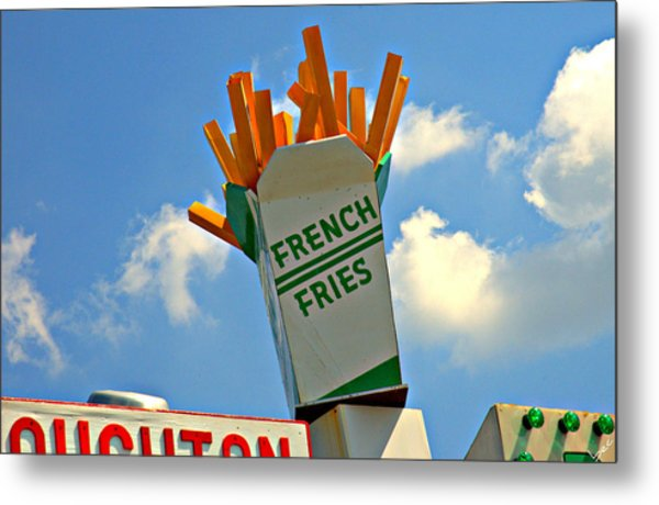Fries In The Sky Metal Print by Bruce Carpenter