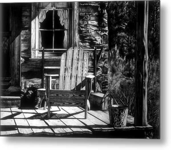Front Porch Metal Print by Jerry Winick