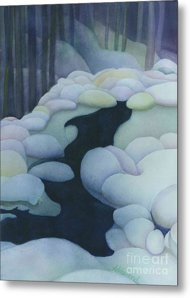 Frozen Brook Metal Print