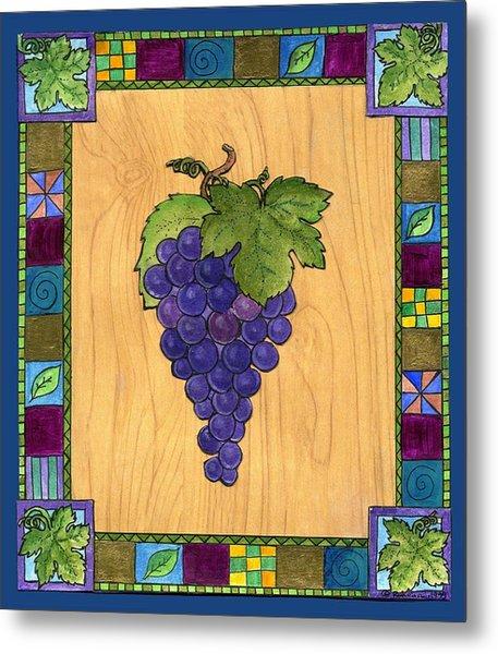 Fruit Of The Vine Metal Print by Pamela  Corwin
