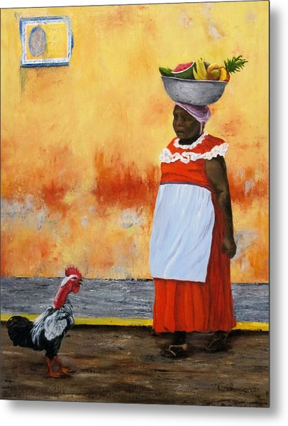 Fruit Seller Metal Print