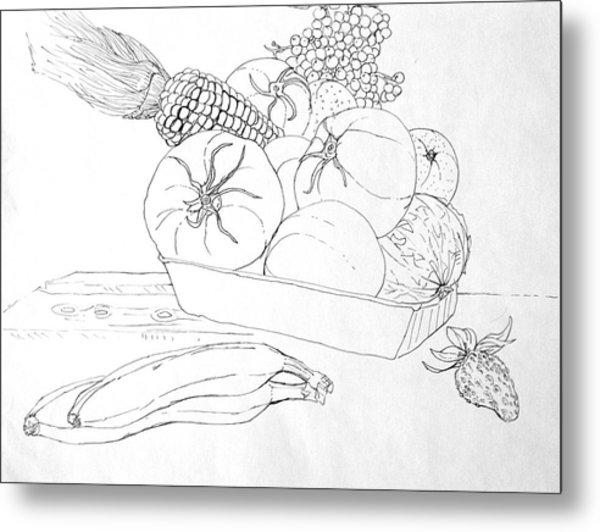 Fruits And Veggies Metal Print by Mike N