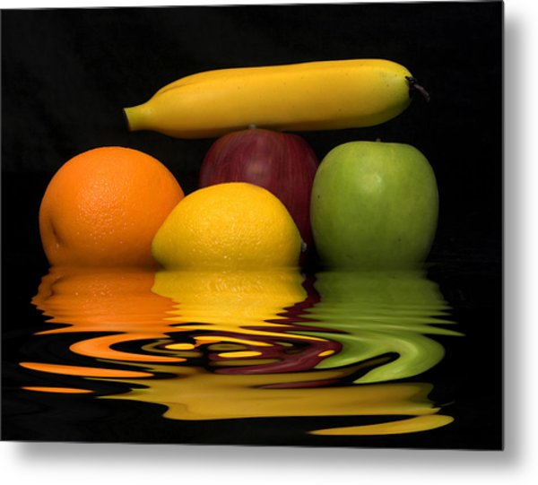 Fruity Reflections Metal Print