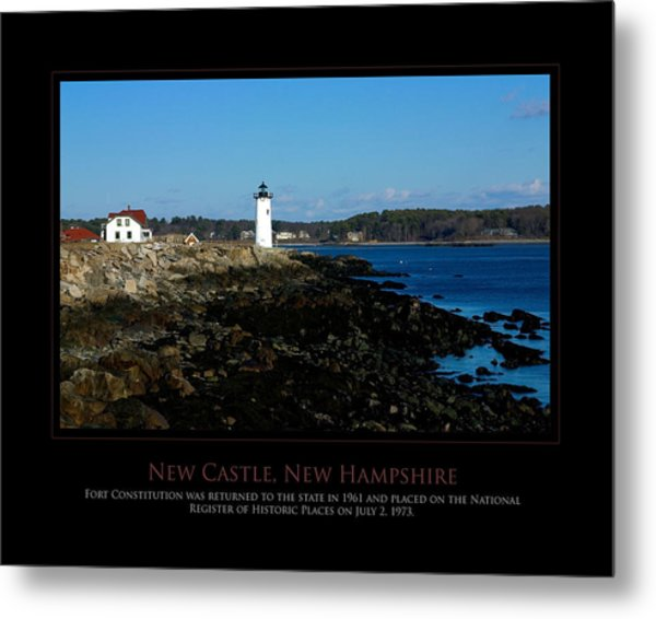 Ft Constitution - Nh Seacoast Metal Print by Jim McDonald Photography