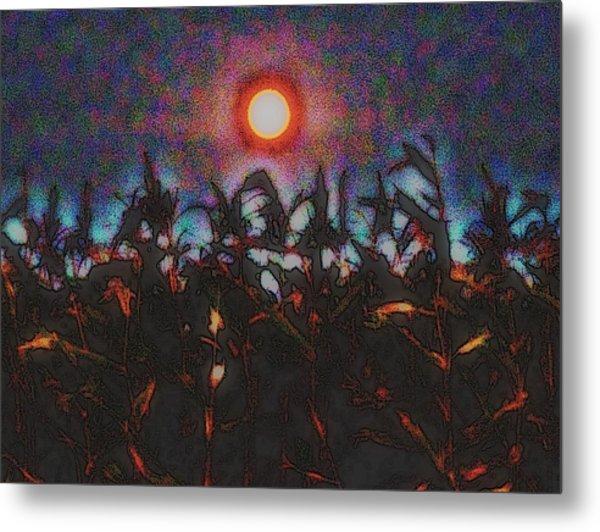 Full Harvest Moon Iowa Metal Print