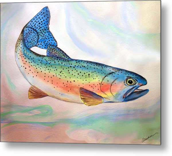 Full On Trout Metal Print