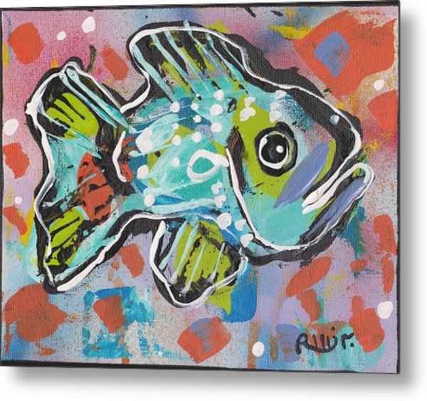 Funky Folk Fish 2012 Metal Print by Robert Wolverton Jr