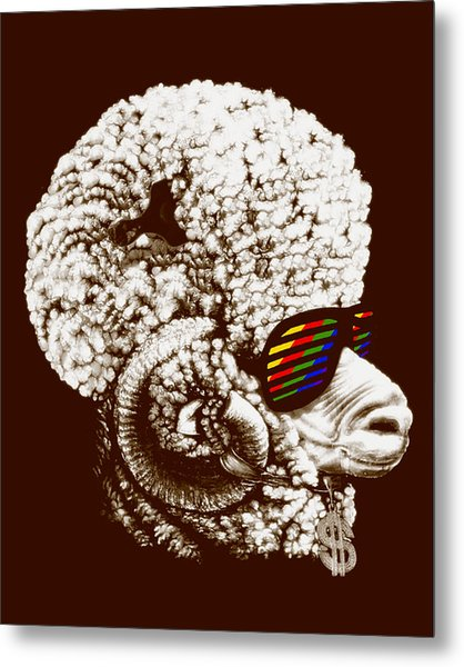 Funky Sheep Metal Print by Bojan Bundalo