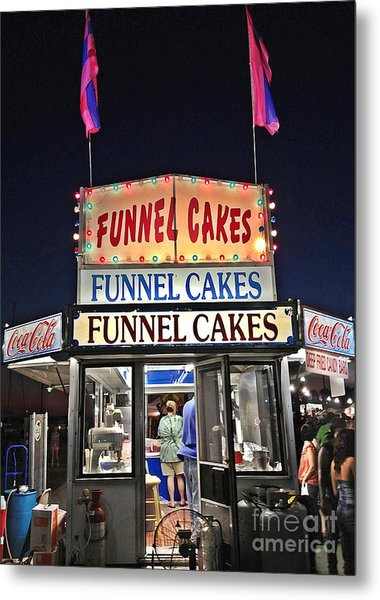 Funnel Cakes Metal Print