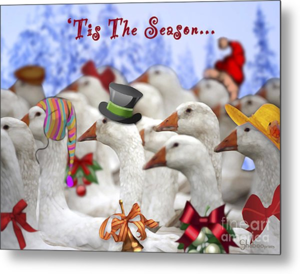 Gaggle O' Greetings Metal Print