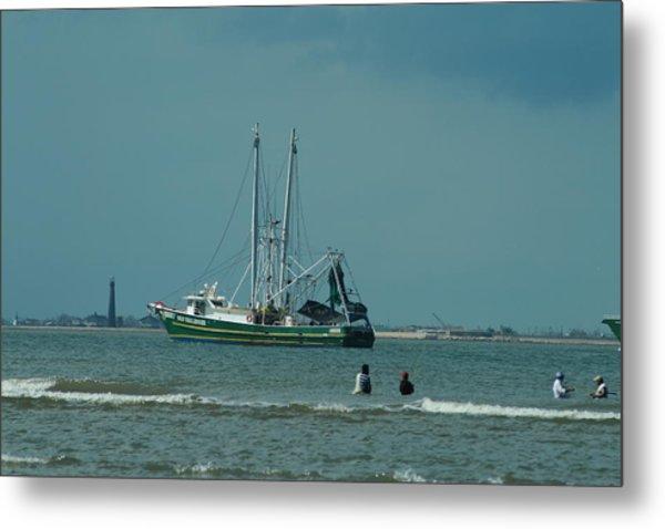 Galveston Fishing Metal Print