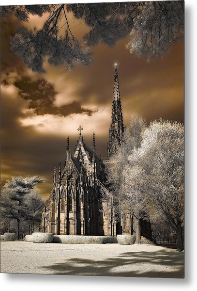 Garden City Cathedral Metal Print