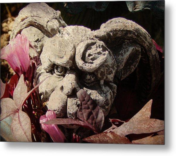 Garden Gargoyle Metal Print by Brenda Conrad