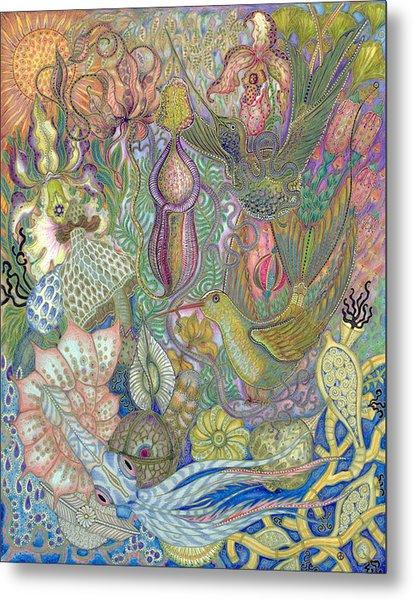Garden Of Eden - Birds Metal Print