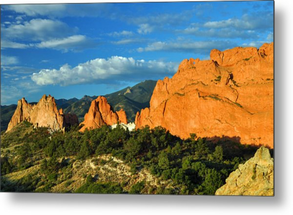 Garden Of The Gods Front Side View Metal Print by Gene Sherrill