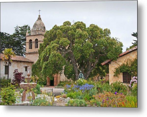 Gardens Of Carmel Mission Metal Print by Kent Sorensen