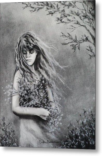 Gathering Spring Wildflowers Metal Print