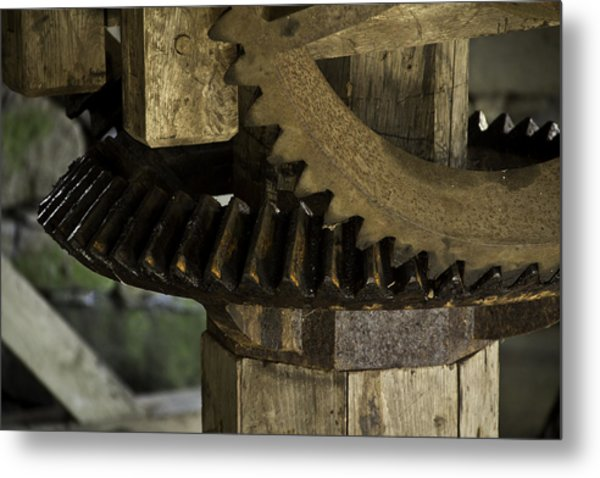 Geared Up Metal Print