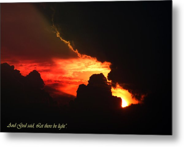 Genesis Light Metal Print