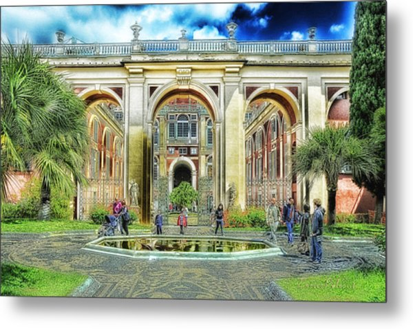 Genoa Royal Palace Metal Print by Enrico Pelos