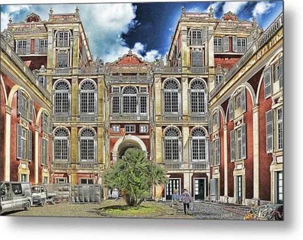 Metal Print featuring the mixed media Genova Palazzo Reale - Royal Palace Of Palazzo Dei Rolli by Enrico Pelos