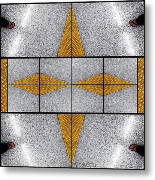 Geometric Metro Metal Print