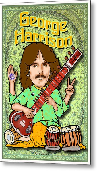 George Harrison Metal Print by John Goldacker