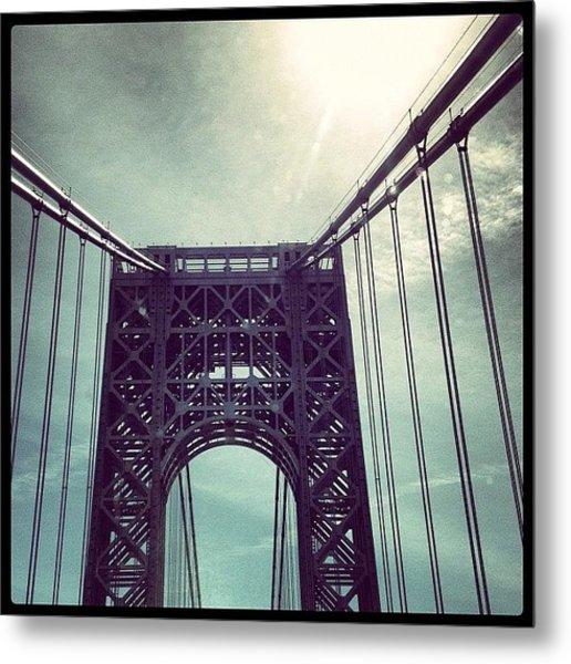 George Washington Bridge Nyc Metal Print