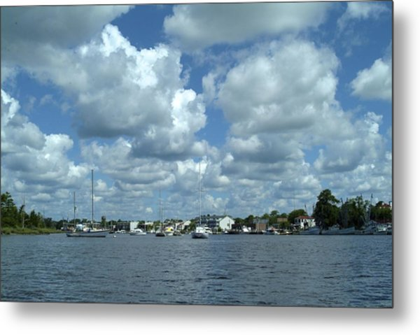 Metal Print featuring the photograph Georgetown Harbor by Ralph Jones