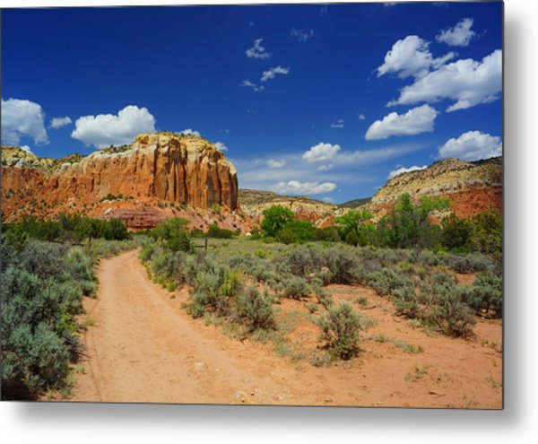 Ghost Ranch Box Canyon Trail Vista   Metal Print