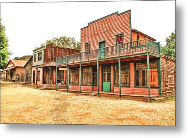 Ghost Town In The Mountain Metal Print