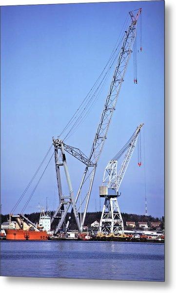 Giant Crane Metal Print by Rod Jones