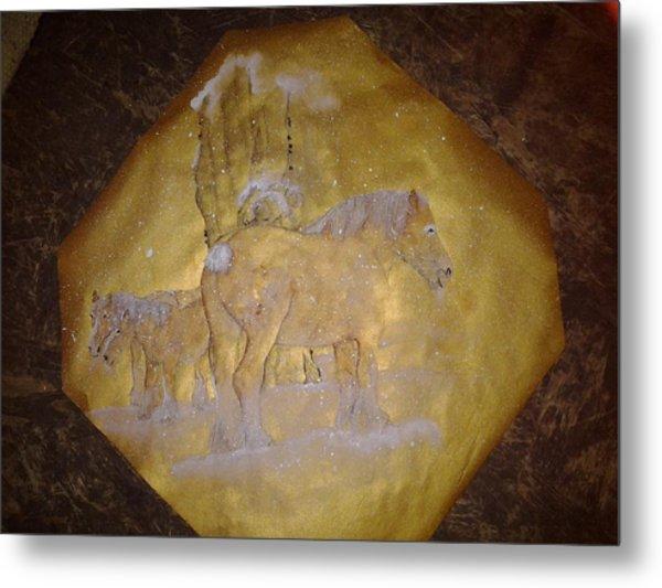 gilded Brabant Metal Print by Debbi Saccomanno Chan