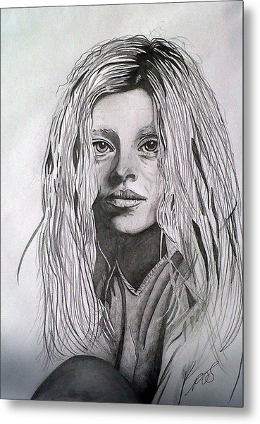 Girl I Metal Print by Paula Steffensen