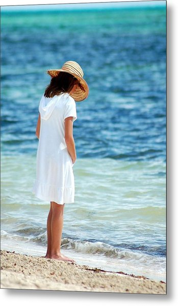 Girl On A Beach Metal Print