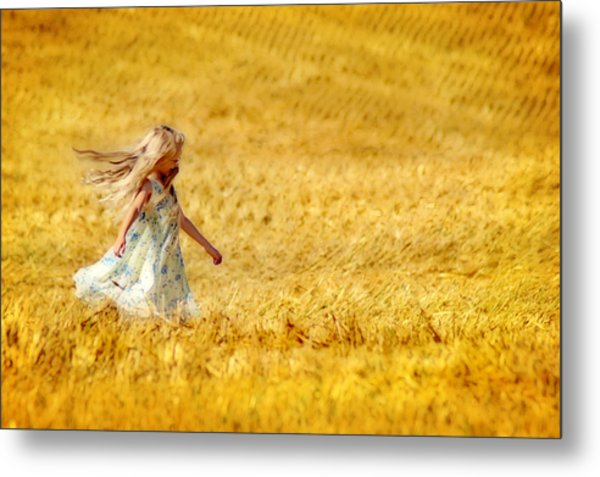 Girl With The Golden Locks Metal Print