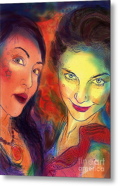Metal Print featuring the digital art Ladies Night by Angelique Bowman