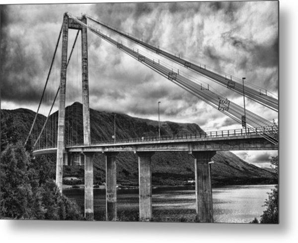 Gjemnessund Bridge Metal Print