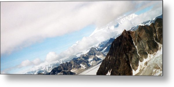 Glacier Flight Metal Print