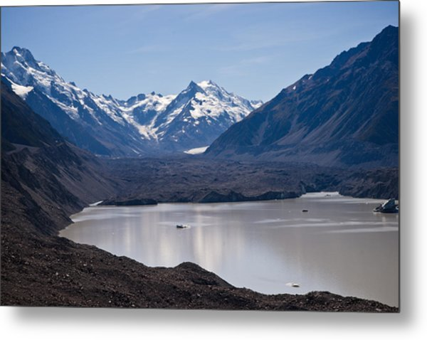 Glacier Lake Metal Print by Graeme Knox